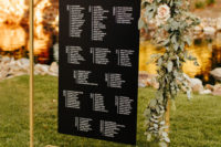 08 The wedding stationery was very modern, fresh and laconic and with lush blooms