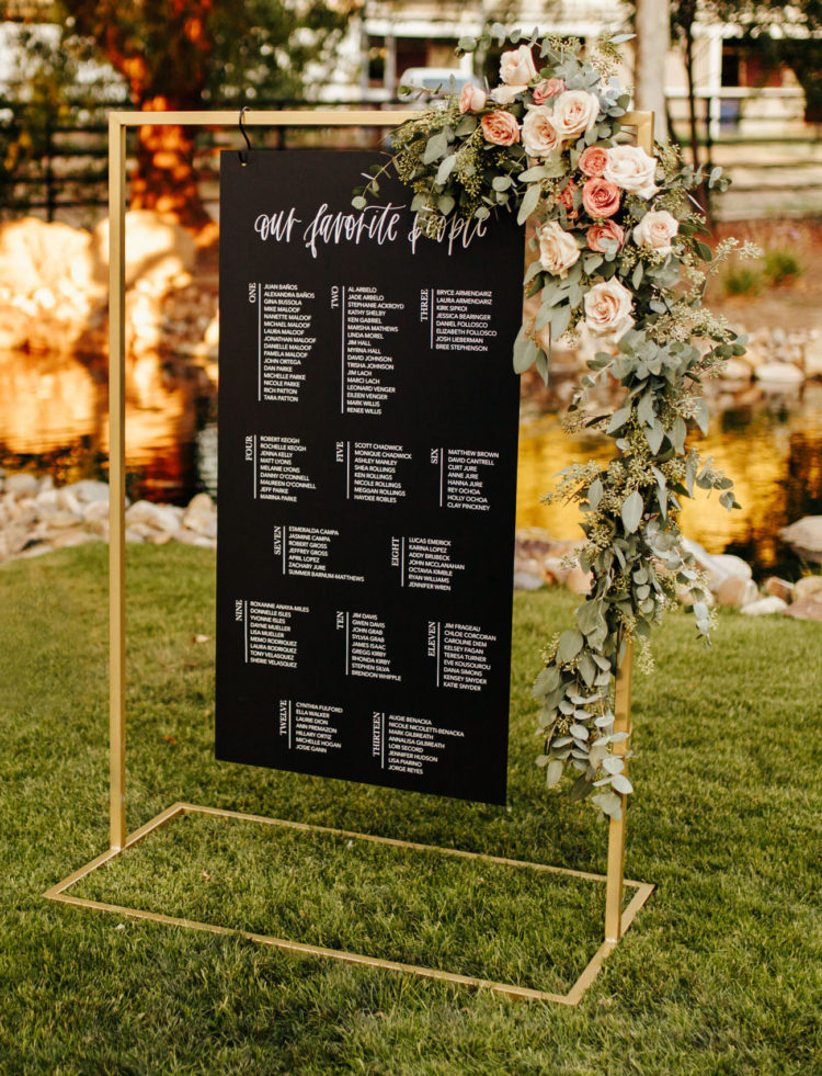 The wedding stationery was very modern, fresh and laconic and with lush blooms