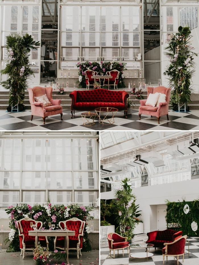 lush greenery is awesome to decorate your reception space