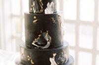 celestial black wedding cake