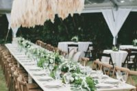 26 a gorgeous pampas grass wedding installation overheads is a fantastic statement for your wedding