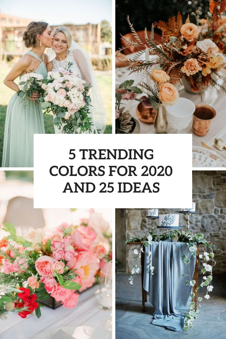 5 trending colors for 2020 and 25 ideas cover