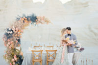 01 This gorgeous romantic celestial wedding shoot is done in sweet pastel tones and looks out of this world