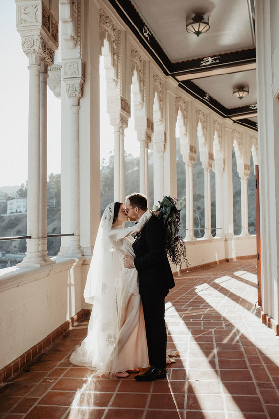 This unique wedding took place in a 1920s theater as the couple love history and historic places a lot