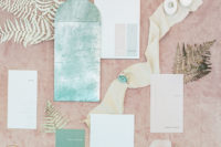 02 The wedding stationery was inspired by the colors of the Aegean  Sea