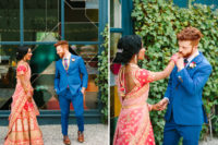 04 The groom was wearing a bold blue suit, a bright tier and brown shoes