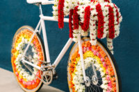 a cool idea to incorporate a bike into a fusion wedding