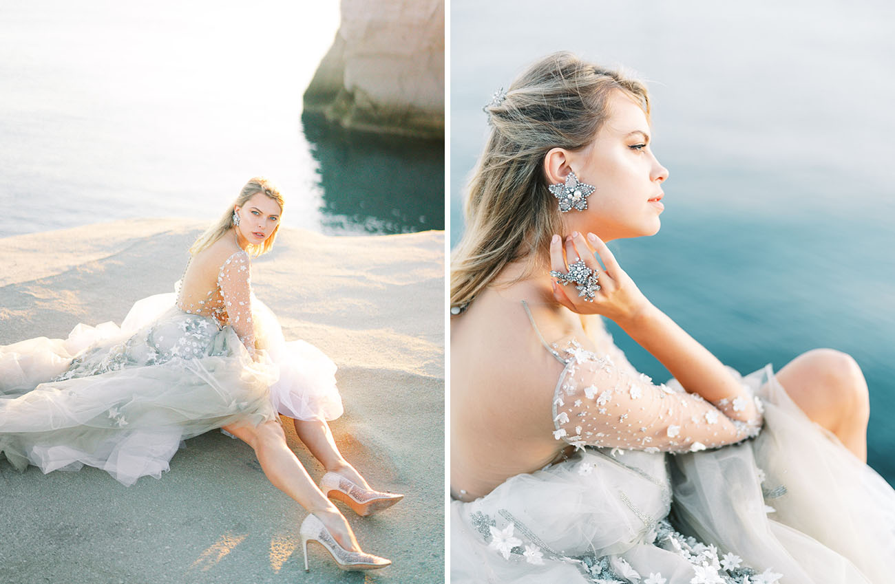 The bride was also wearing stunning celestial jewelry and looked wow