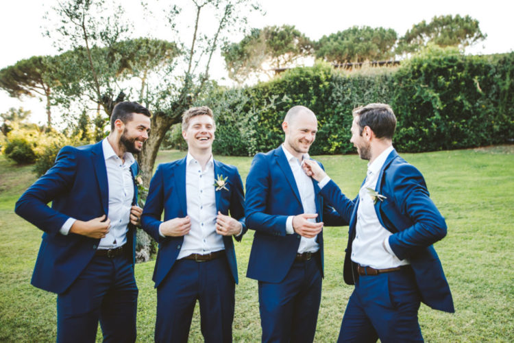 The groomsmen were rocking the same as the groom