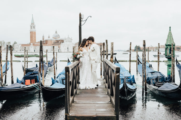 Stunning looks of Venice are a perfect backdrop for wedding portraits