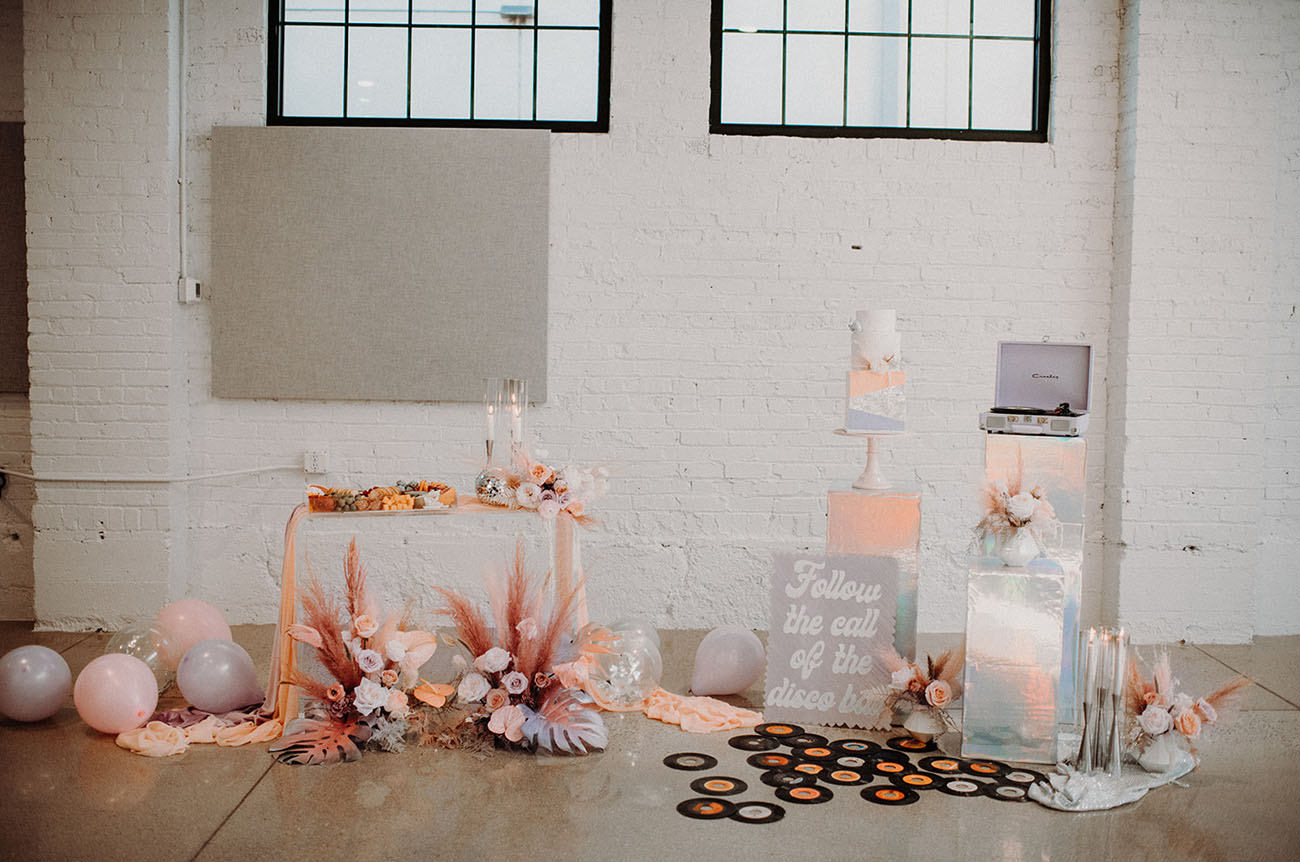 a stylish wedding dessert table styling