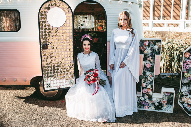 This vintage pink van is a perfect piece to style for your wedding