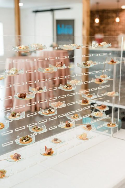 a super modern appetizers display