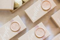 20 delicious white chocolate in boxes is a stylish and delicious wedding favor idea to try