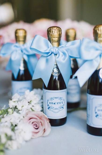 mini wine bottles are nice wedding favors that will be loved by most guests