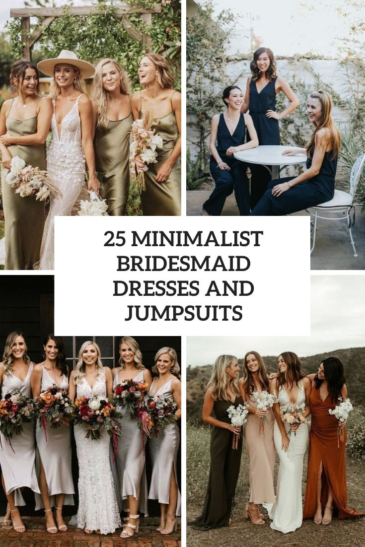 25 Minimalist Bridesmaid Dresses And Jumpsuits