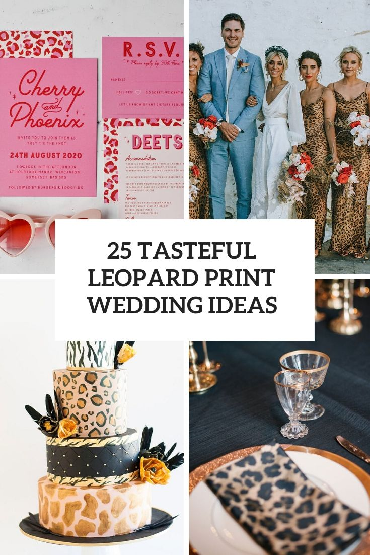 tasteful leopard print wedding ideas cover