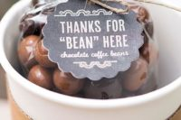 26 chocolate coffee beans are cool and quirky edible wedding favors that will be loved by many people