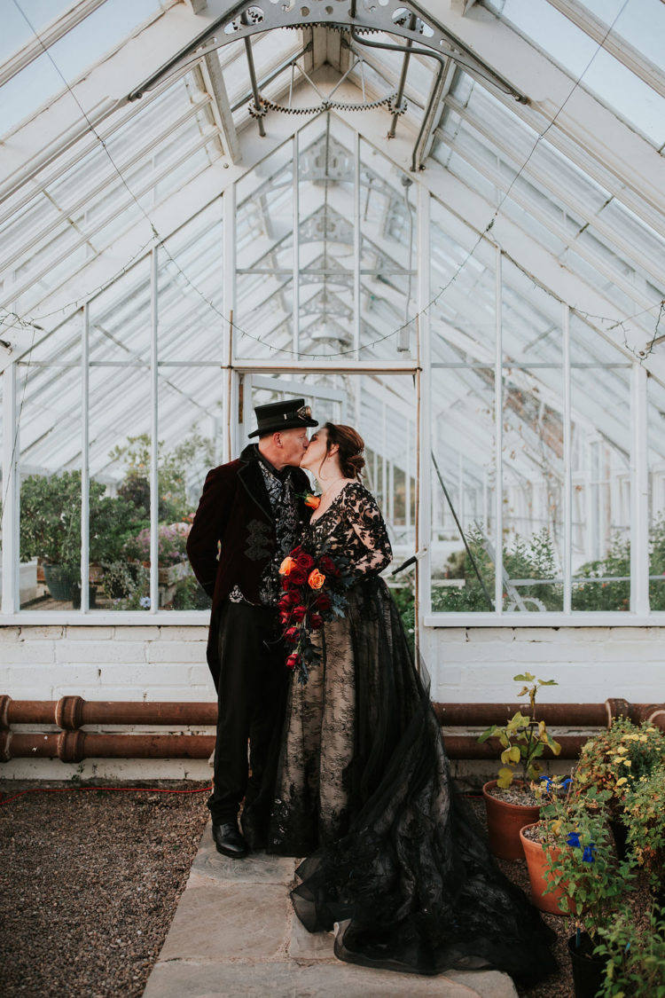 This couple went for a Scottish Victoriana and Halloween themed wedding pulling off all their favorite details