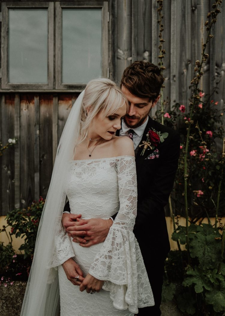 Dark Boho Vegan Wedding In Autumn