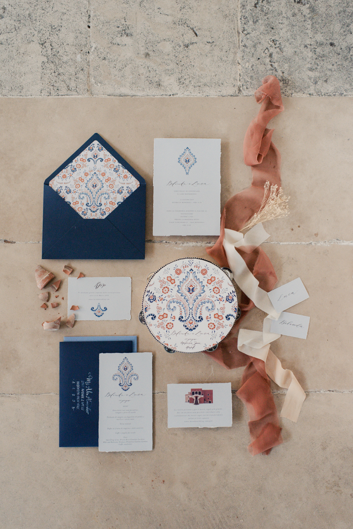 a stylish wedding invitation suite design