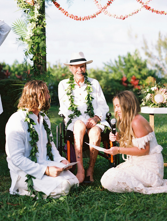 The ceremony was held by Ram Dass, the last wedding before he passed away