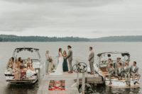 06 The ceremony took place right on the lake and the parties were sitting in boats
