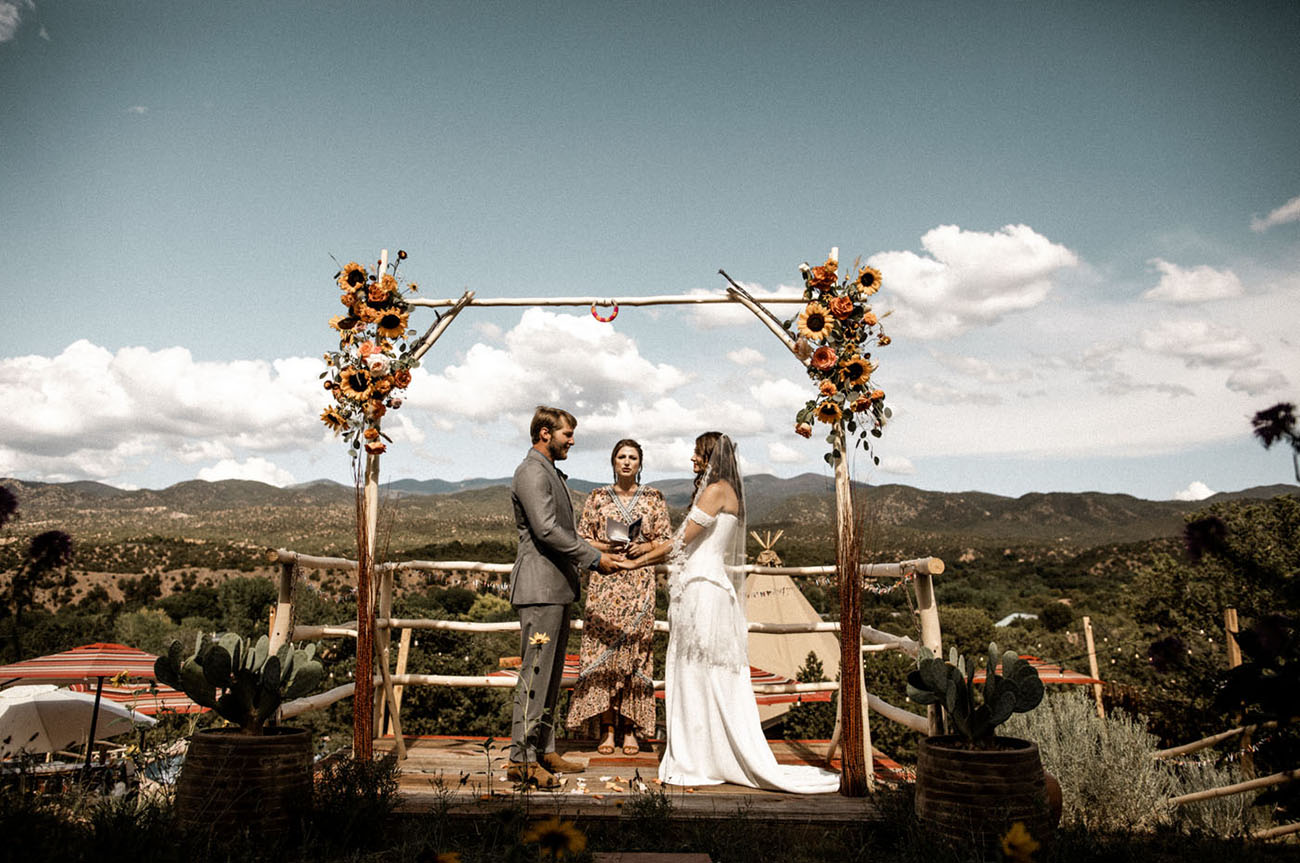 sunflowers are awesome to decorate a wedding arch
