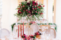 a gorgeous sweetheart table decor