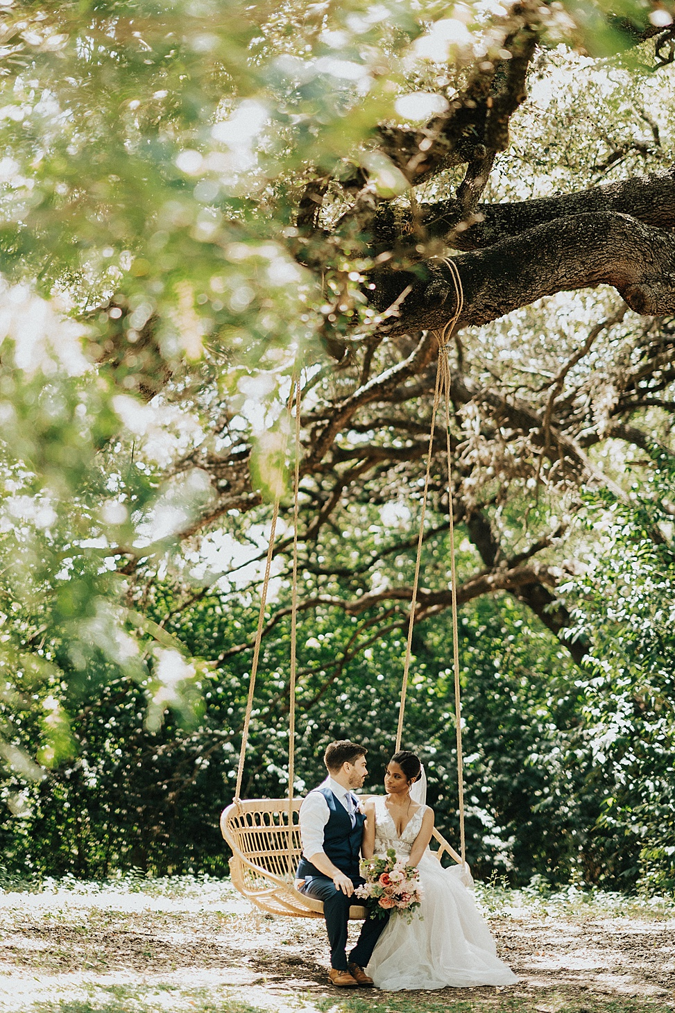 Getting married in a garden is lovely is romantic, especially in spring and summer