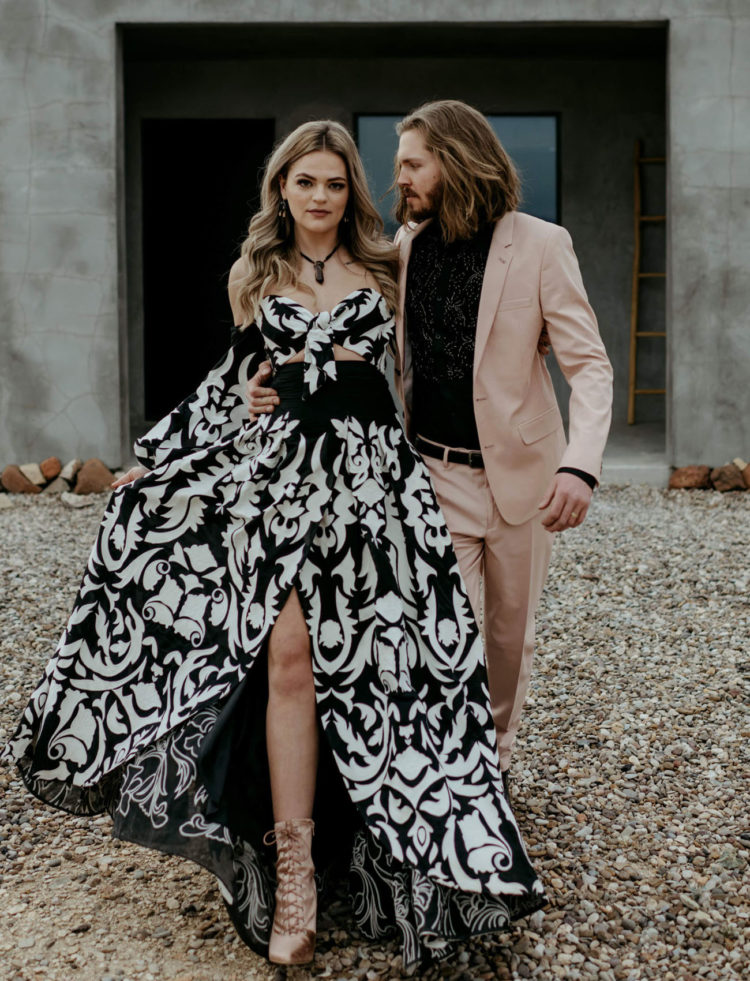 What a gorgeous wedding shoot for a modern western-loving couple