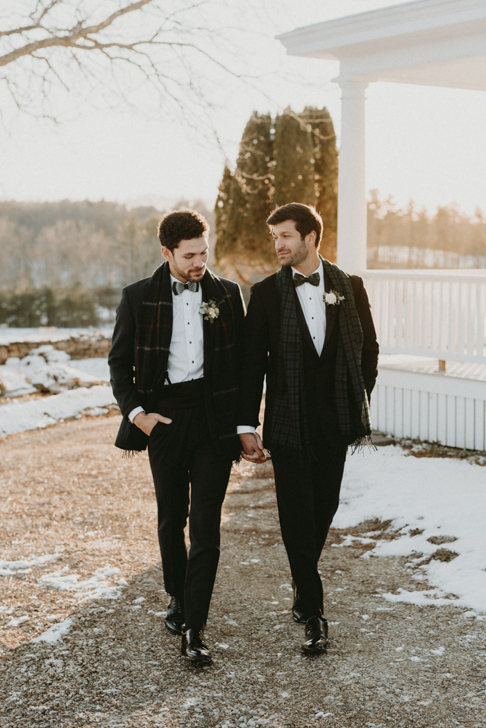 This couple participated in a chic and elegant wedding shoot with a masculine feel and Scottish touches