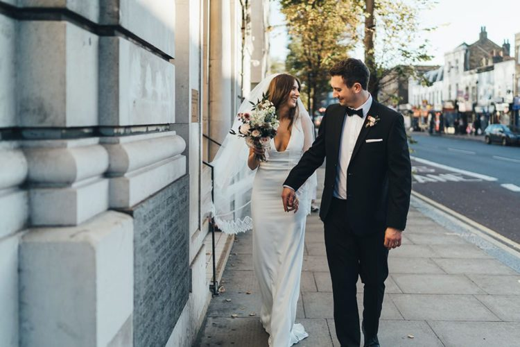 This couple went for a chic and modern black tie wedding