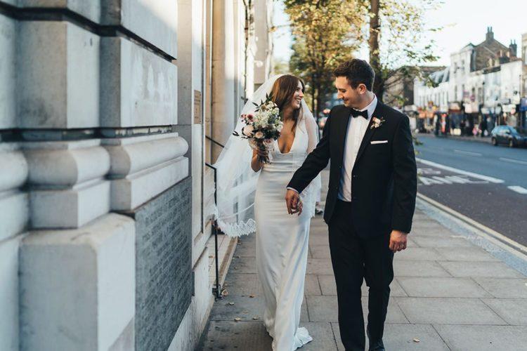 Modern Autumn Black Tie Wedding In London