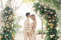 01 This wedding shoot took place in Costa Rica and was done in earthy and peachy tones