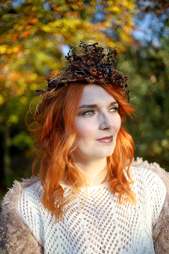 This wedding shoot was inspired by fall nature, Game of Thrones and bold fall colors