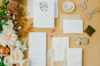 02 The wedding stationery was done neutral, with some drawings of the local spaces