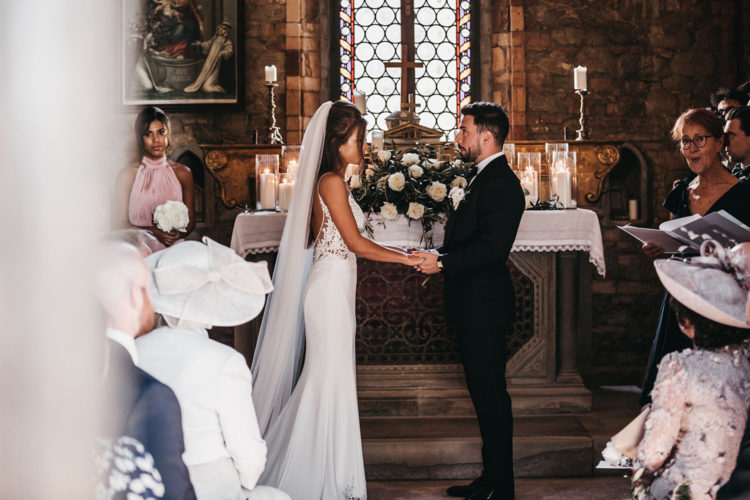 The ceremony took place in a beautiful old chapel of the venue