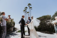 05 The elopement took place on the beach where the couple grew up with their families