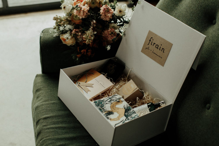 This is a bridesmaid gift box with various cool stuff available