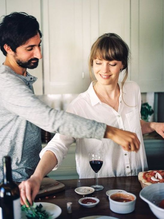 bake and cook something for your anniversary together, have some wine and enjoy your time