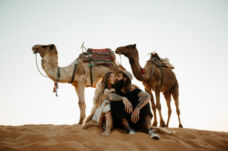 The couple went for a camel ride after the ceremony