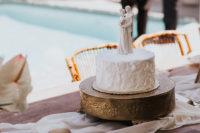 a textural wedding cake