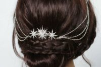 12 a silver hair wine with large silver stars will accent not only half updos or hair down but also updos