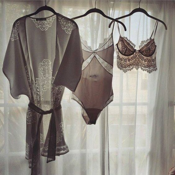 hang your wedding lingerie comfortably using hangers if they fit