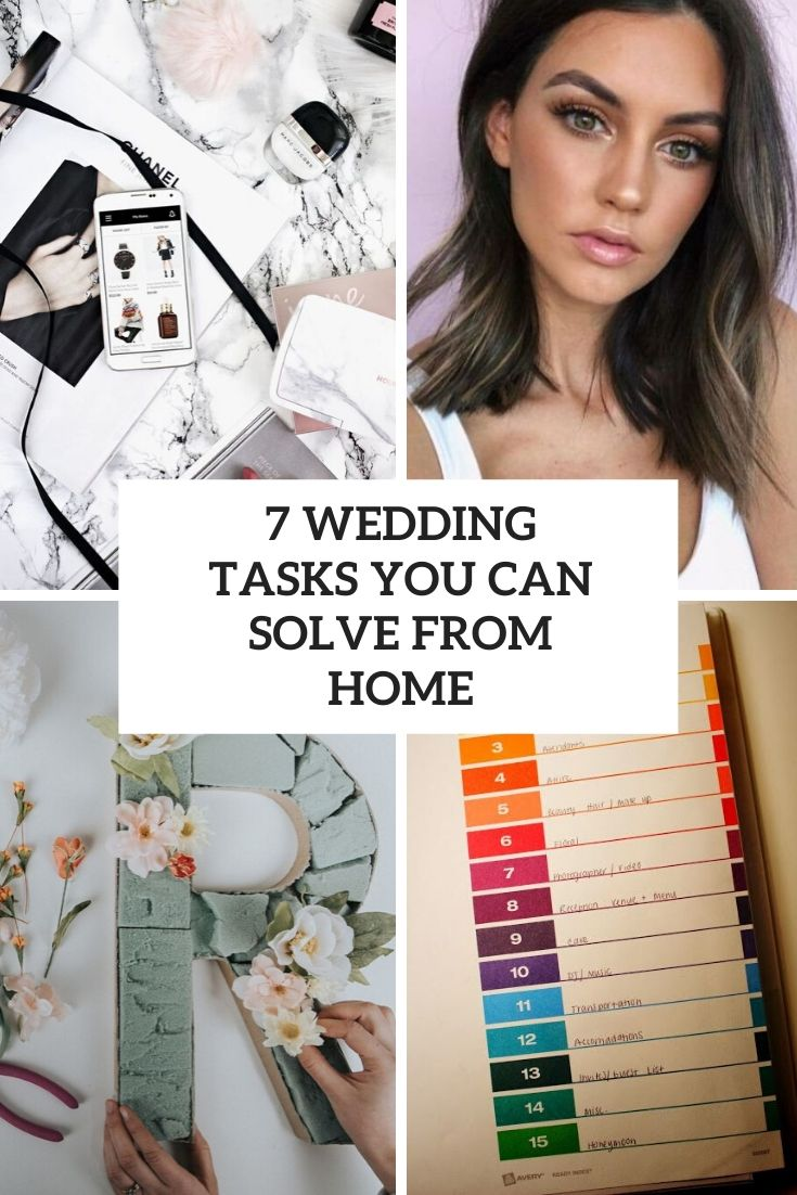7 wedding tasks you can solve from home cover