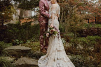 01 This couple paired moody boho vibes, their love to fashion and Japan to create their dream wedding