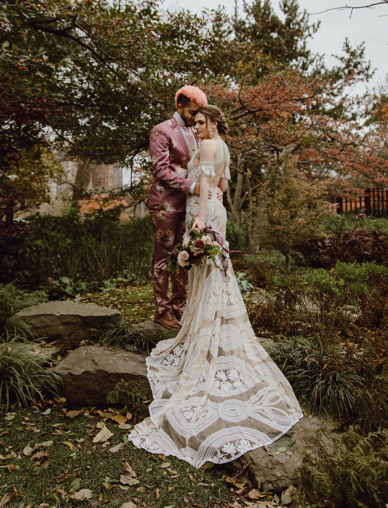 This couple paired moody boho vibes, their love to fashion and Japan to create their dream wedding