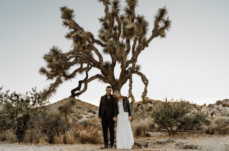 This couple went for a Big Lebowski inspired wedding in the desert