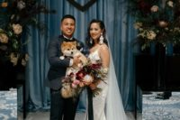 01 This couple went for a gorgeous city-themed moody wedding with their own city